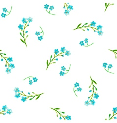 Watercolor blue flowers vector