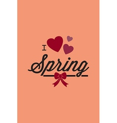 With love spring and vector