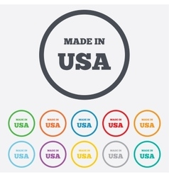Made in the usa icon export production symbol vector