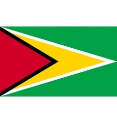 Flag of guyana in correct proportions and colors vector