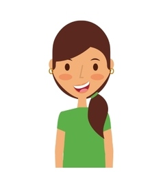 Cartoon young girl icon vector