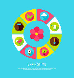 spring time concept vector image