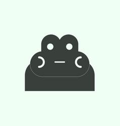animals on stylish background frog head vector image