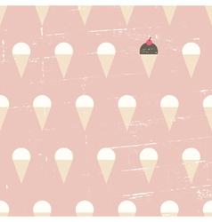 Seamless ice cream vintage distressed pattern vector