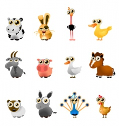 Farm animal set vector