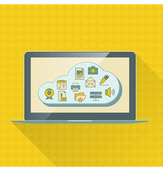 Cloud computing service infographics with icons vector