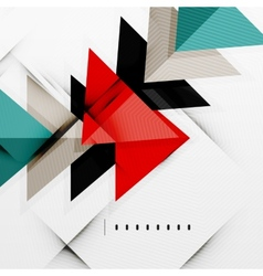 Modern glossy triangles business layout vector