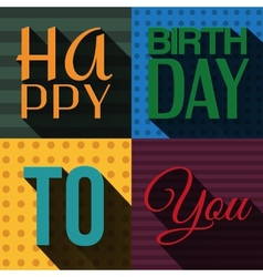 Birthday card with wishes text in retro design vector
