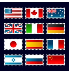 Flag stamps vector