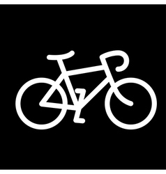Simple bike icon vector