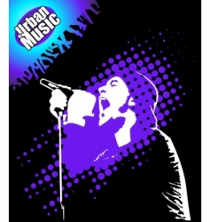 Rap music illustration vector