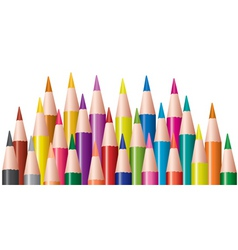 bunch of colored pencils vector