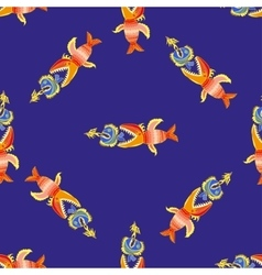 Pattern with fishes vector