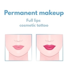 Permanent makeup lips vector
