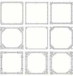 Vintage Invitation Decorative Frames Set of 9 in vector image