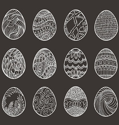 Happy easter set of different eggs for design vector