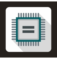 Electronic circuit board icon flat style vector