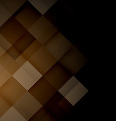 Abstract mosaic brown background vector image vector image