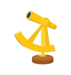 An ancient spyglass icon cartoon style vector image