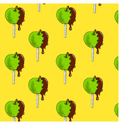 Apple in chocolate vector