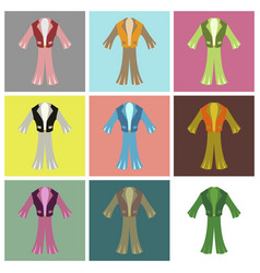 Assembly flat icons mens suit vector