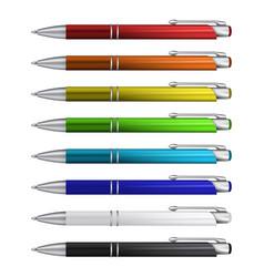 Ball pens collection vector