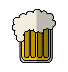 Beer glass isolated icon vector