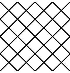 Black white grid chess board diamond background vector