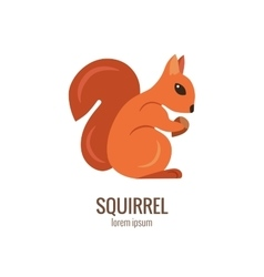 Colorfu cartoon squirrel logo vector
