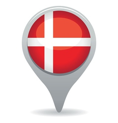 danish flag pointer vector image vector image