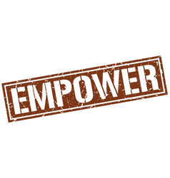 Empower square grunge stamp vector