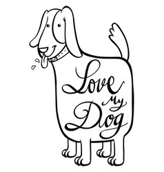 English phrase for love my dog vector