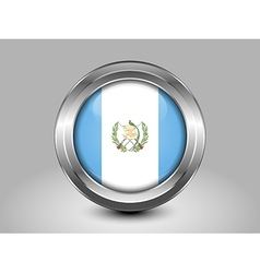 Flag of guatemala metal round icon vector