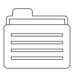 Folder icon outline style vector