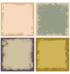 Four grunge frames vector
