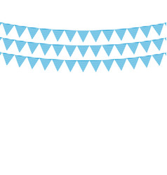 garland with flags for the oktoberfest holiday vector image