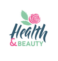 Health and beauty studio logo stroke pink vector