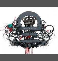 heraldic design vector image vector image