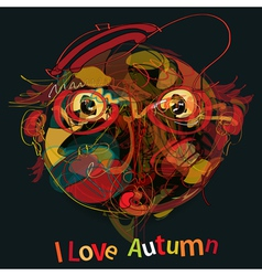 i love autumn vector image vector image