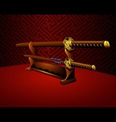 Katana swords vector