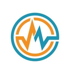 M letter logo vector