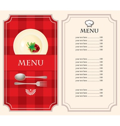 menu with raspberries vector image