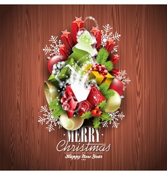 Merry Christmas and Happy New Year design vector image
