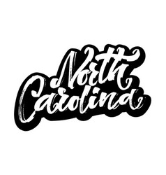 north carolina sticker modern calligraphy hand vector image vector image