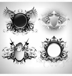 ornamental shields vector image