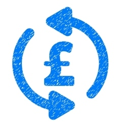 Refresh Pound Price Grainy Texture Icon vector image vector image