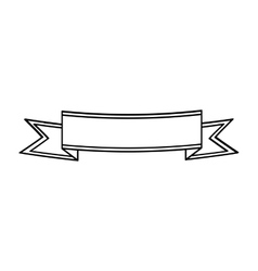 Ribbon banner label blank icon graphic vector