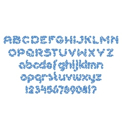 Round dashed line font 01 vector