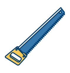 saw construction tool vector image