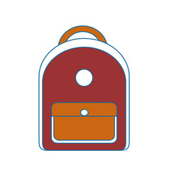 School backpack isolated vector